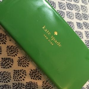 Kate Spade Blue Green Eyeglass Sunglass Case